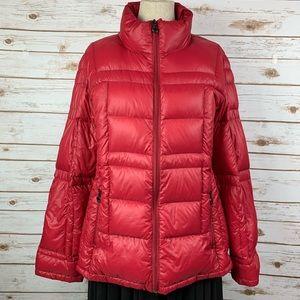 Calvin Klein Packable Down Puffer Coat Winter Red